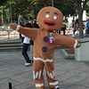 Ginger Bread Man participant in the 2008 DragonCon Parade down Peachtree Street.
