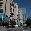 CNN center and the Omni Hotel along Marrietta Street