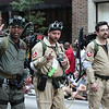 Ghostbusters in the 2008 DragonCon Parade down Peachtree Street.