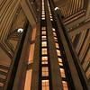The atrium in the Marriott