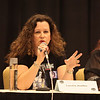 "Laurell K. Hamilton author of Vampire fiction at the ""Night Bites"" panel."