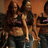TNA Knockout  wrestlers Traci Brooks, Christy Hemme, and Gail Kim.