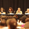 "Laurell K. Hamilton, Sherrilyn Kenyon, Suzy McKee Charnas, and Chelsea Quinn Yarbro authors of Vampire fiction at the ""Night Bites"" panel."