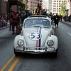 Herby the Love Bug in the 2008 DragonCon Parade down Peachtree Street.