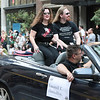 Laurell K. Hamilton in the 2008 DragonCon Parade down Peachtree Street.