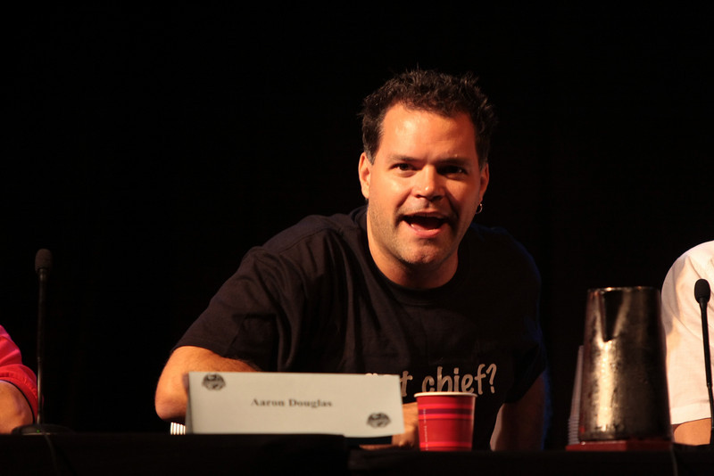 Aaron Douglas portrays Chief Galen Tyrol in the Sci-Fi channel's series Battlestar Galactica.