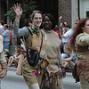Participant in the 2008 DragonCon Parade down Peachtree Street.