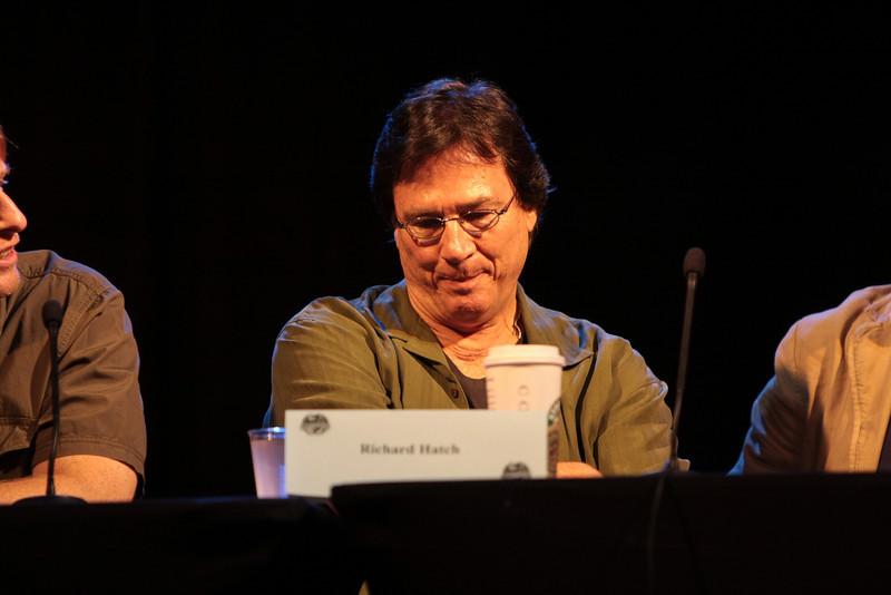 Richard Hatch plays Tom Zarek in the Sci-Fi channel's series Battlestar Galactica.