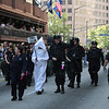 Battlestar Galactica participants in the 2008 DragonCon Parade down Peachtree Street.