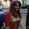 Superhero participant in the 2008 DragonCon Parade down Peachtree Street.