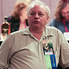 "Bill Fawcett at the ""Bob AsprinÕs Last Bad Joke"" panel."