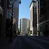 The view South along Peachtree Street where the DragonCon parade will be held