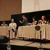 Laurell K. Hamilton, Stephen Hickman, Steve Rude, Traci Brooks, Christy Hemme, and Gail Kim at the Dragon*Con Opening Ceremonies.