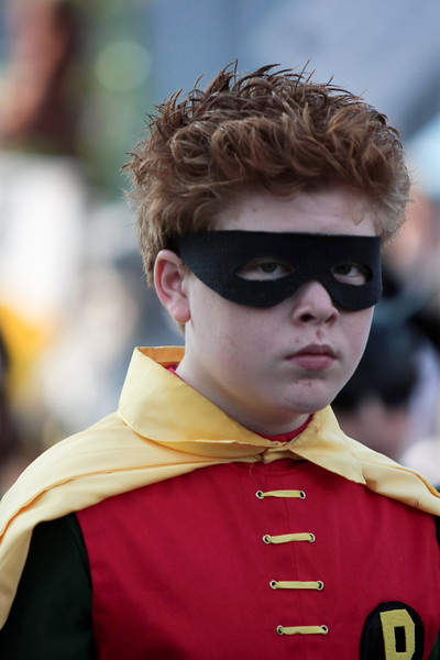 Robin participant in the 2008 DragonCon Parade down Peachtree Street.