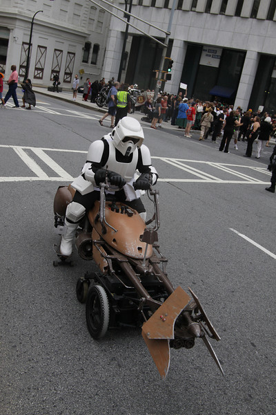 Preparing for the 8th Annual DragonCon Parade down Peachtree Street in Atlanta Georgia