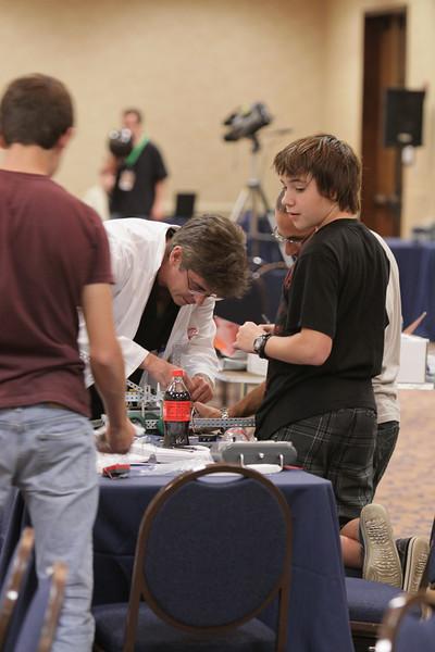 ERAU Robotics Challenge Building Session at DragonCon 2009