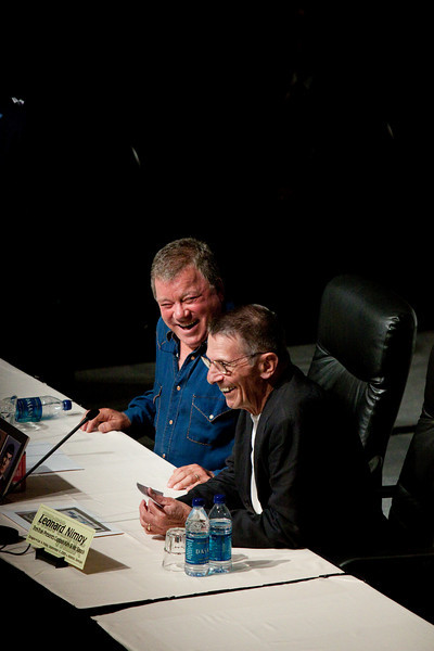 Leonard Nimoy & William Shatner at DragonCon 2009
