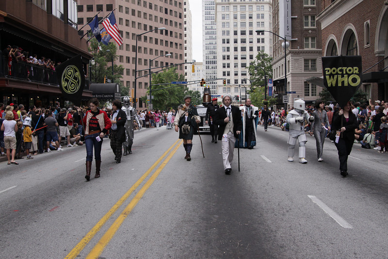 The 8th Annual DragonCon Parade down Peachtree Street in Atlanta Georgia