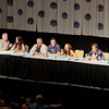 Eureka / Warehouse 13 Crossover with Rene Auberjonois, Tia Carrere, Saul Rubinek, Eddie McClintock, Erica Cerra, Colin Ferguson and Neil Grayston at DragonCon 2010 McClintock, Erica Cerra, Colin Ferguson and Neil Grayston at DragonCon 2010