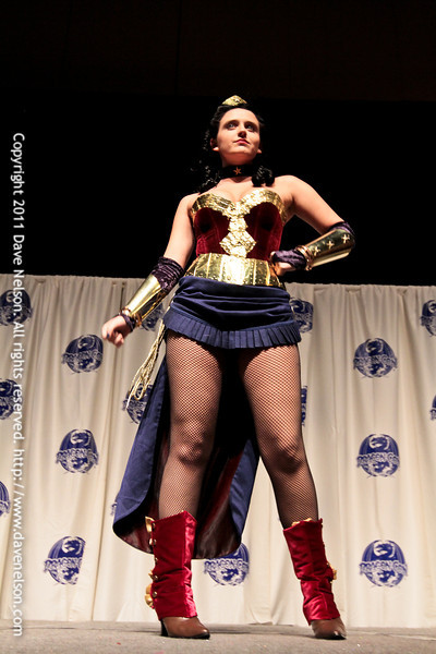 Comic Book Babes Costume Contest with Wonder Woman at DragonCon 2011