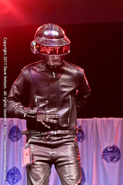 Daft Punk Costume at the Friday Night Costuming Contest at DragonCon 2011