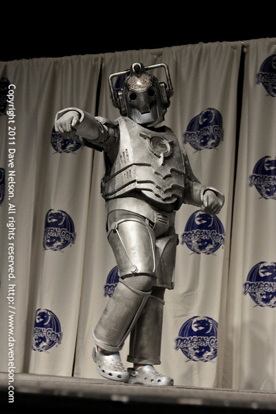 Doctor Who Cyberman at the 2011 DragonCon Masquerade Costume Contest