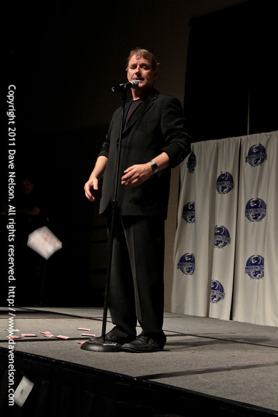 John Lenahan Doing Magic Tricks at the 2011 DragonCon Masquerade Costume Contest