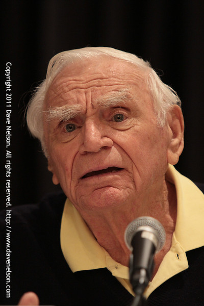 Ernest Borgnine at DragonCon 2011. He was my favorite guest at DragonCon this year.