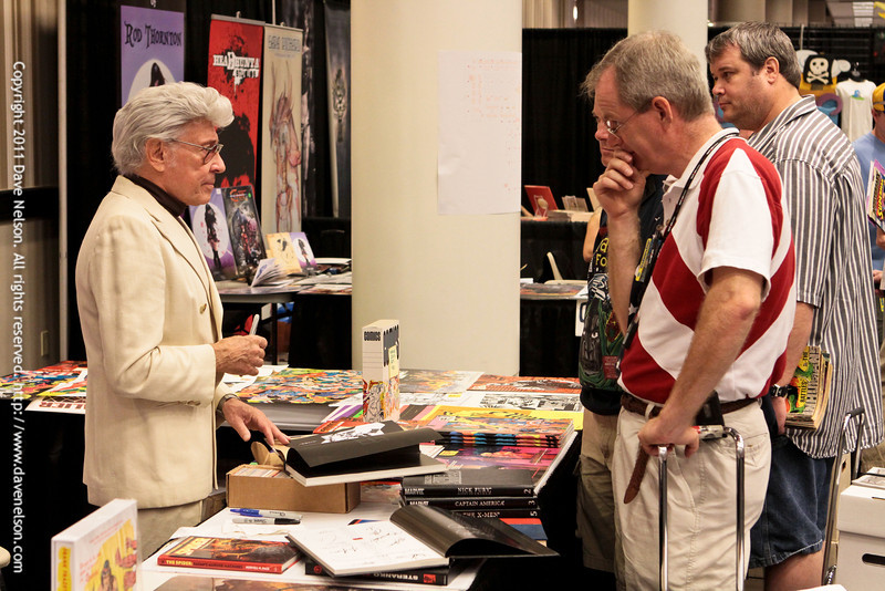 Jim Steranko in his Booth at DragonCon 2011