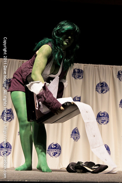 Comic Book Babes Costume Contest with She-Hulk at DragonCon 2011