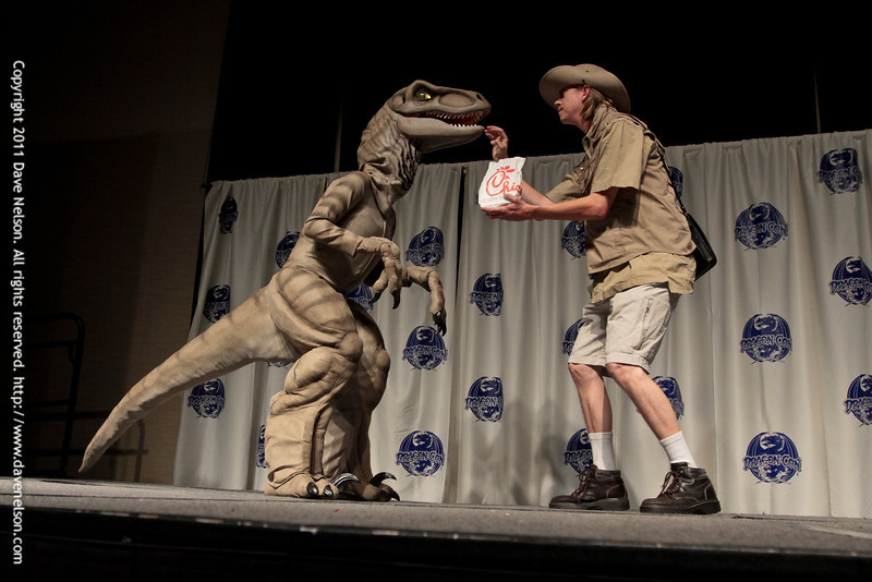 Raptor Costumes at the 2011 DragonCon Masquerade Costume Contest