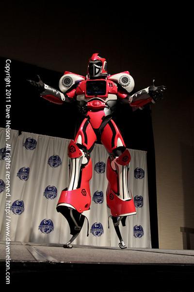 Jumpbot Costume at the 2011 DragonCon Masquerade Costume Contest