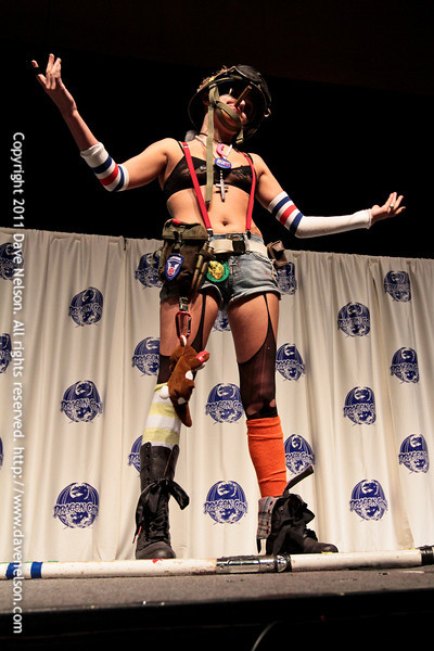 Comic Book Babes Costume Contest with Tank Girl at DragonCon 2011