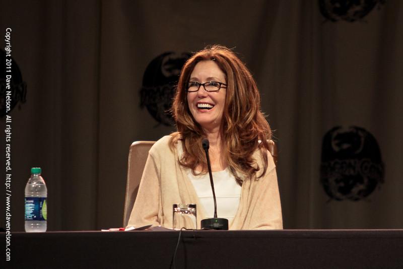 Battlestar Galactica (BSG): Sometimes You Gotta Roll a Hard 6 with Mary McDonnell (President Laura Roslin) at DragonCon 2011