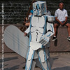 Silver Surfer Preparing for the 2011 DragonCon Parade