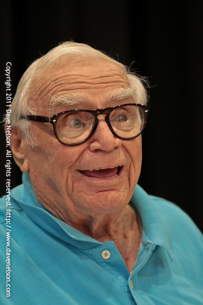 Maermaid Man: Hero of Bikini Bottom with Ernest Borgnine at DragonCon 2011. I had such great fun listening to Mr. Borgnine talk about his experiences. His shining personality, humbleness, and sense of humor make him one of my favorite actors. At 94 years old he is still going strong acting in 3 movies in 2011 and already filming a movie for 2012 along with being the character Mermaid Man for the SpongeBob SquarePants TV show.