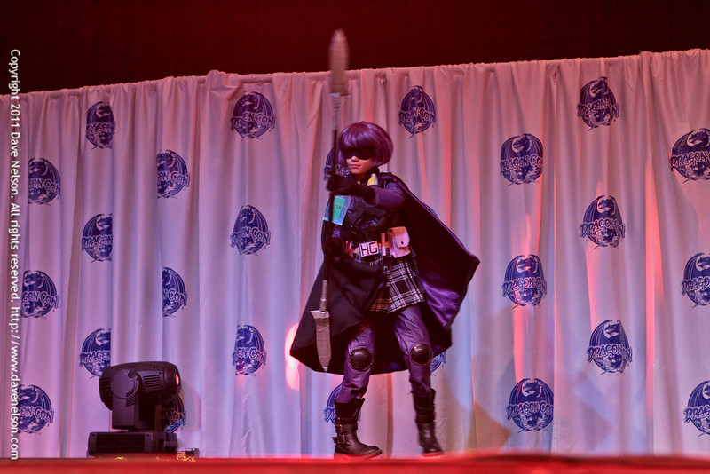Hit Girl Costume at the Friday Night Costuming Contest at DragonCon 2011