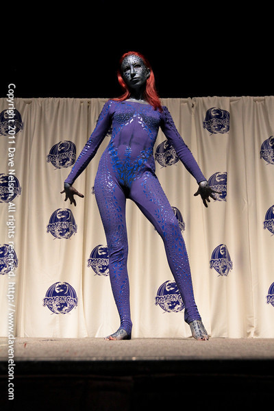 Comic Book Babes Costume Contest with X-Men's Mystique at DragonCon 2011