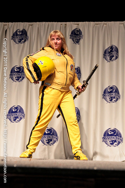 Comic Book Babes Costume Contest with The Bride from Kill Bill at DragonCon 2011