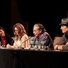 Battlestar Galactica (BSG): Sometimes You Gotta Roll a Hard 6 with Richard Hatch (Tom Zarek), Mary McDonnell (President Laura Roslin), Edward James Olmos (Admiral William Adama), Tamoh Penikett (Captain Karl 'Helo' Agathon) at DragonCon 2011