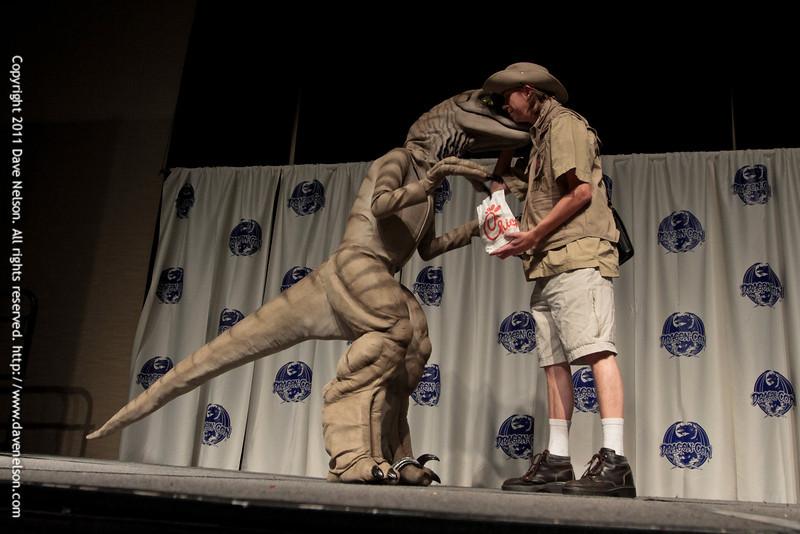 Raptor Costumes at the 2011 DragonCon Masquerade Costume Contest