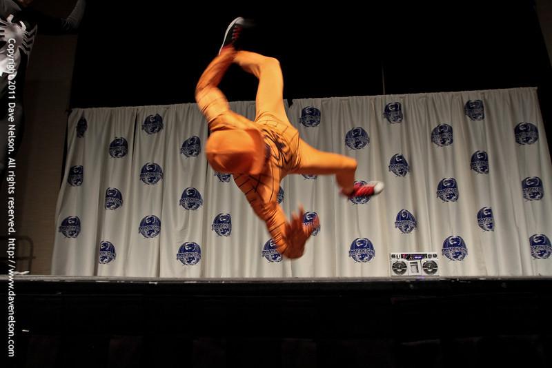 Break Dancing Spidermen at the 2011 DragonCon Masquerade Costume Contest