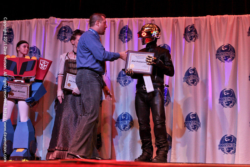 Best Professional (Daft Punk) at the Friday Night Costuming Contest at DragonCon 2011