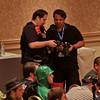 Thom and Tito comparing photos at DragonCon 2011