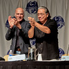 Children of Humanity Battlestar Galactica panel with Michael Hogan (Colonel Saul Tigh) and Edward James Olmos (Admiral William Adama) at DragonCon 2011