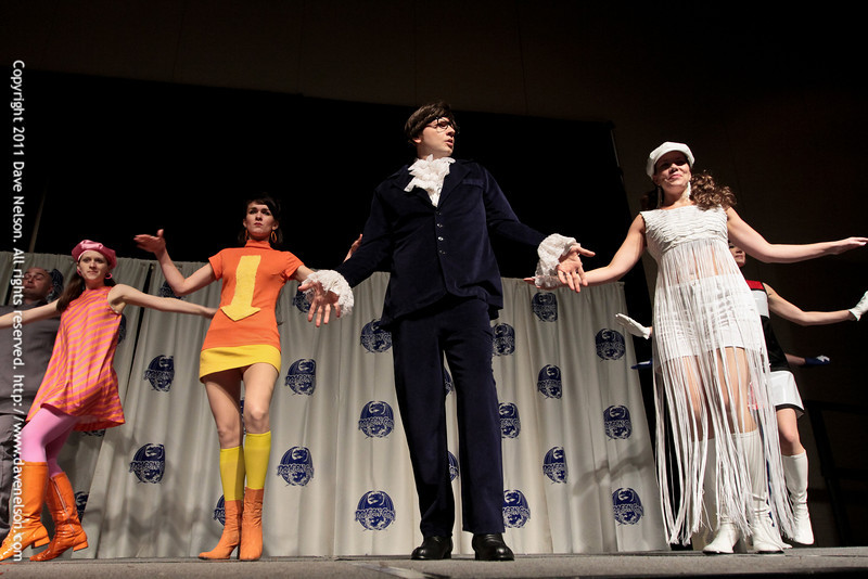 Austin Powers Costumes at the 2011 DragonCon Masquerade Costume Contest
