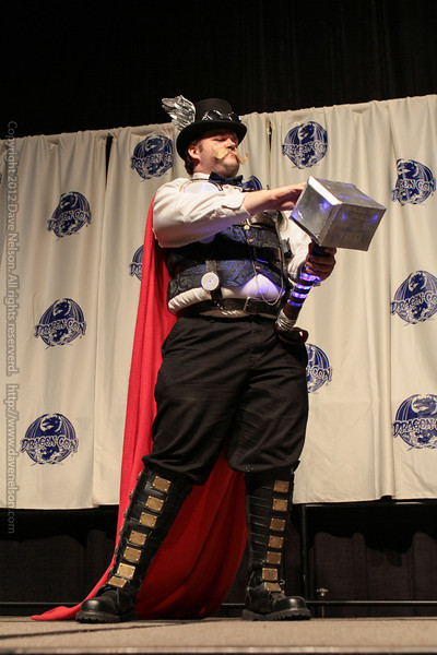 Steampunk Thor at the From the Page to the Stage: Comic Book Pageant