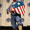 Captain America at the From the Page to the Stage: Comic Book Pageant