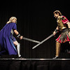 Crossed Swords, Mike Sakuta and Nicole Harsch, MC the Friday Night Costume Contest