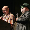 George Pérez and Peter David hosting the From the Page to the Stage: Comic Book Pageant